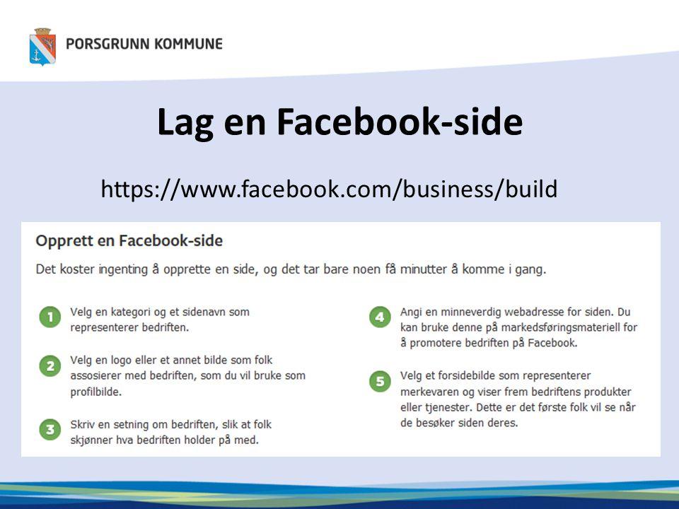 Lag en Facebook-side https://www.facebook.com/business/build