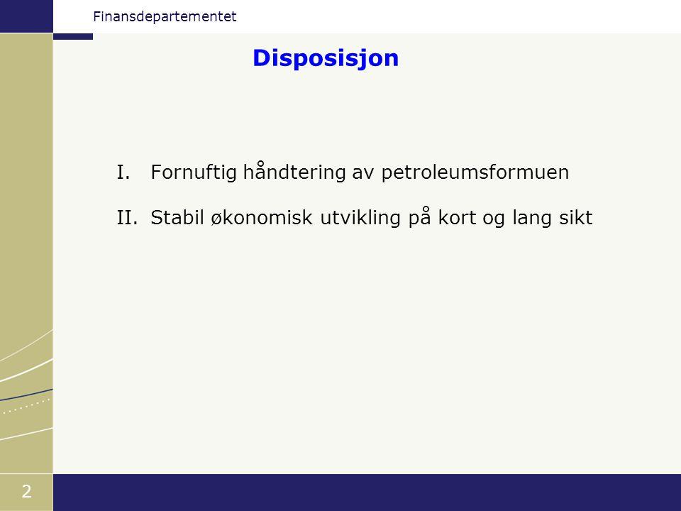 Finansdepartementet 13 Store petroleumsinntekter er allerede brukt Netto kontantstrøm fra statlig petroleumsvirksomhet og oljekorrigert underskudd på statsbudsjettet.