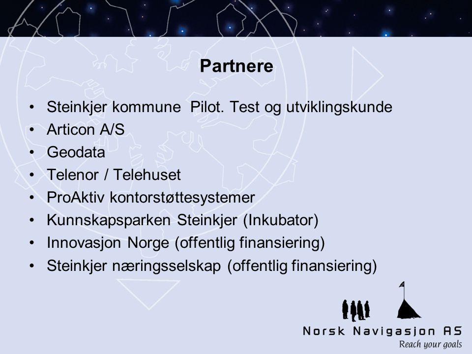 Partnere •Steinkjer kommune Pilot.