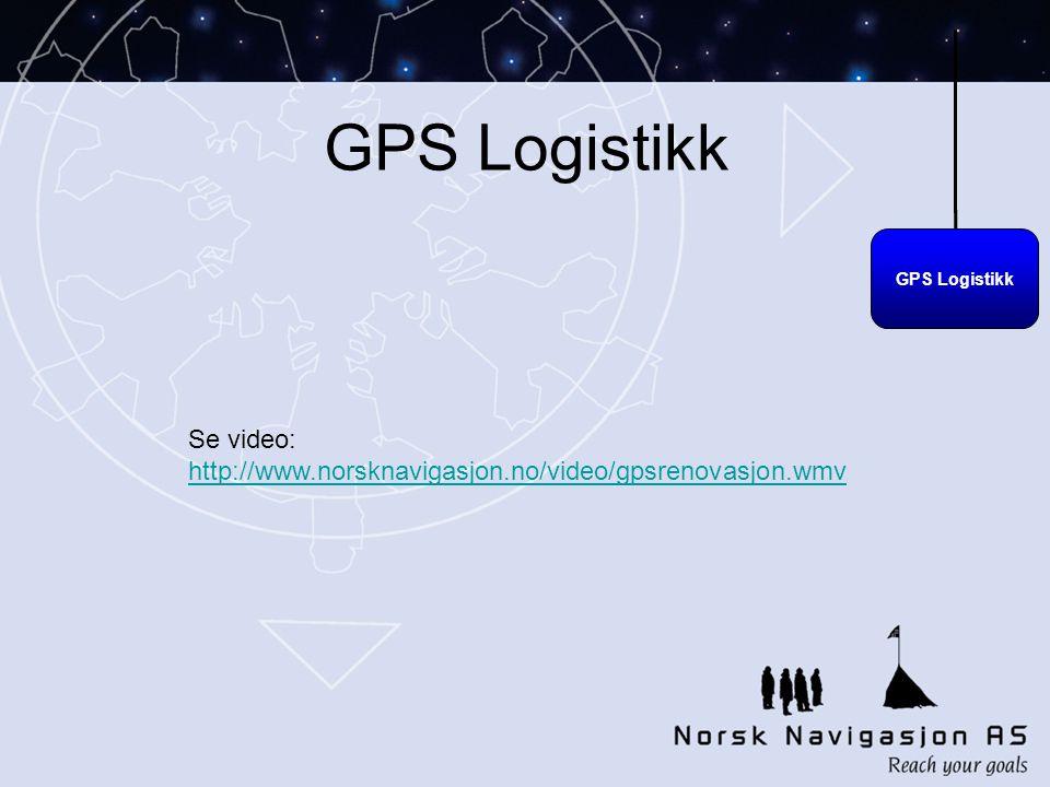 GPS Logistikk Se video: http://www.norsknavigasjon.no/video/gpsrenovasjon.wmv