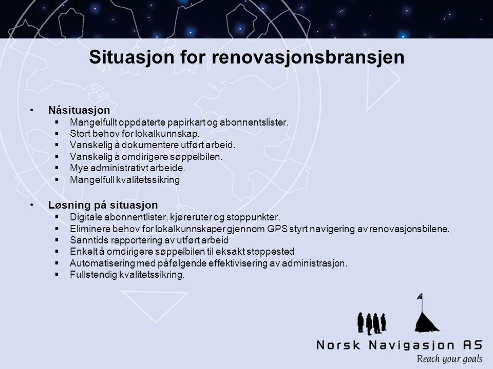 Situasjon for renovasjonsbransjen •Nåsituasjon  Mangelfullt oppdaterte papirkart og abonnentslister.
