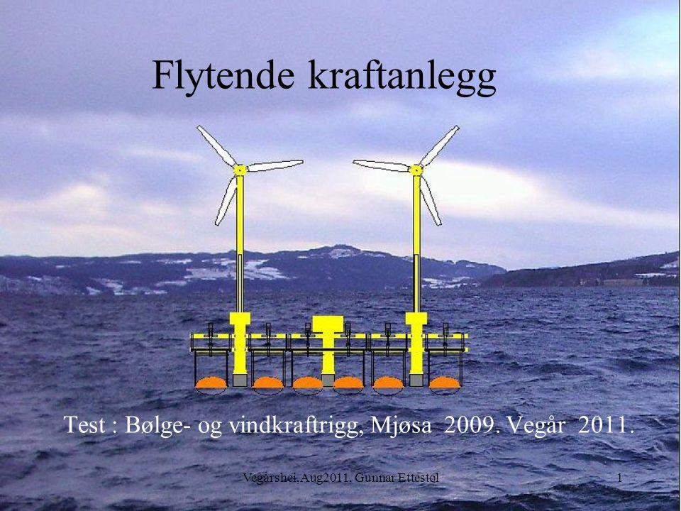 Vegårshei,Aug2011, Gunnar Ettestøl1 Flytende kraftanlegg Test : Bølge- og vindkraftrigg, Mjøsa 2009.