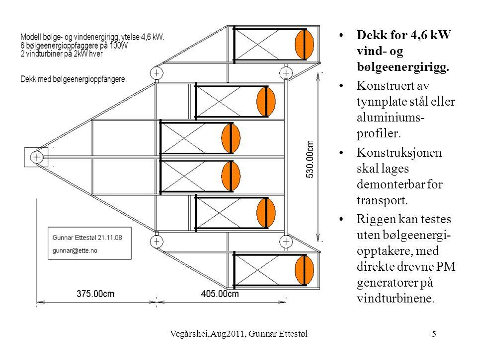 Vegårshei,Aug2011, Gunnar Ettestøl6 •4,6 kW testrigg for vind- og bølgeenergi, sett fra siden.