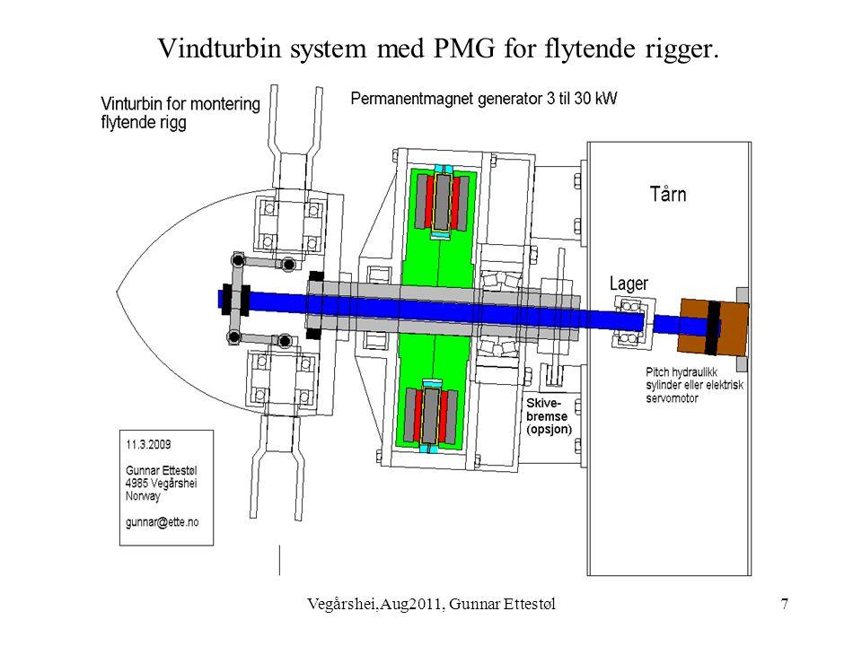Vegårshei,Aug2011, Gunnar Ettestøl7 Vindturbin system med PMG for flytende rigger.