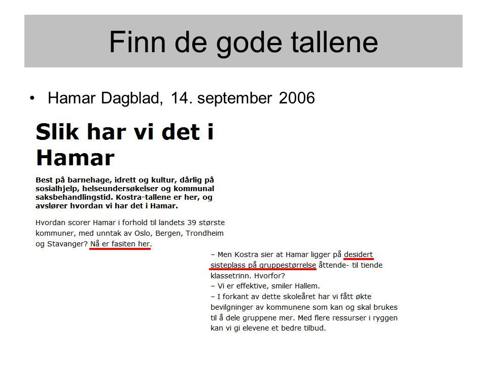•Hamar Dagblad, 14. september 2006