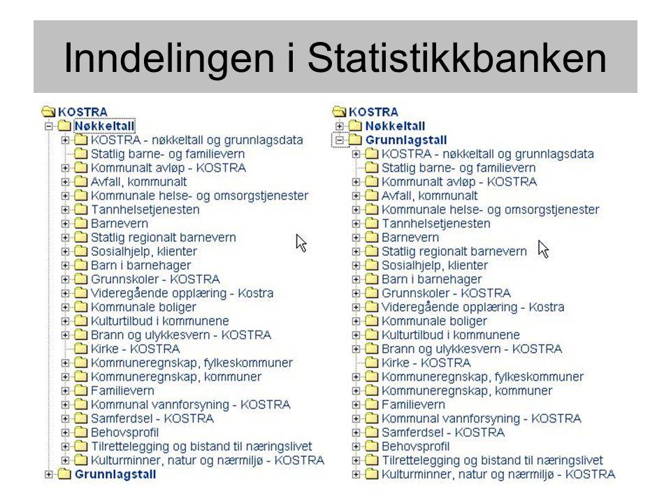 Inndelingen i Statistikkbanken