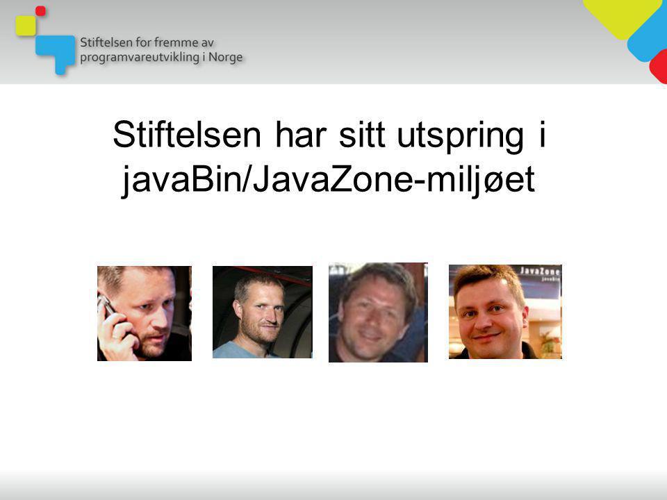 Stiftelsen har sitt utspring i javaBin/JavaZone-miljøet