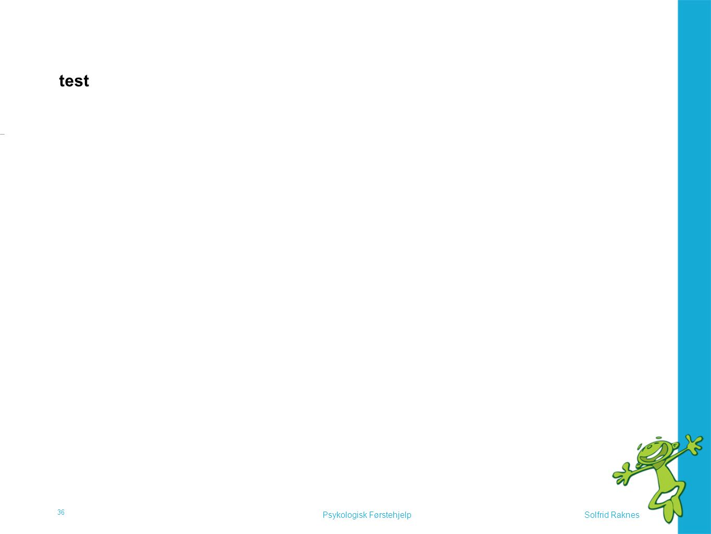 Solfrid RaknesPsykologisk Førstehjelp test 36