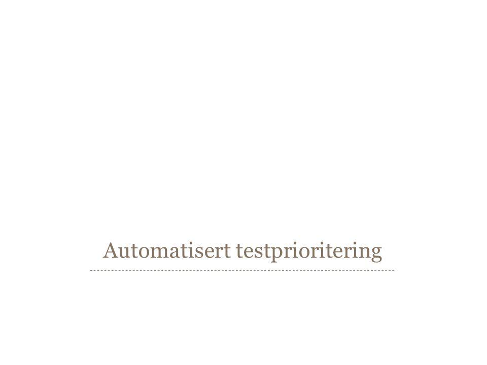 Prioriteringsteknikker http://github.com/sveinung Side 13  Prioritering etter: –Nylige kodeendringer –Historikk fra tidligere testkjøringer –Metodedekning