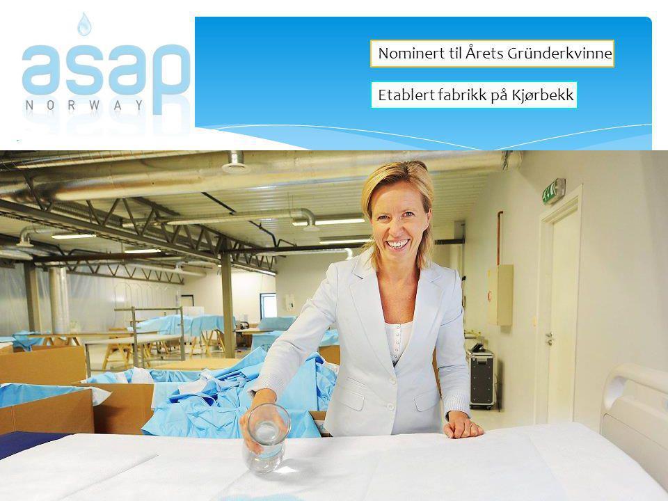 Nominert til Årets Gründerkvinne Etablert fabrikk på Kjørbekk