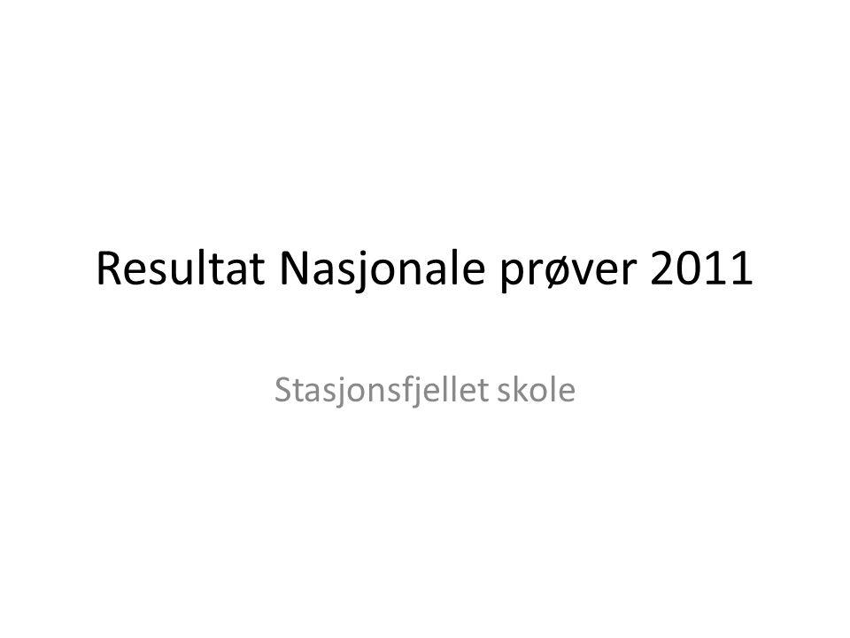 Resultat Nasjonale prøver 2011 Stasjonsfjellet skole