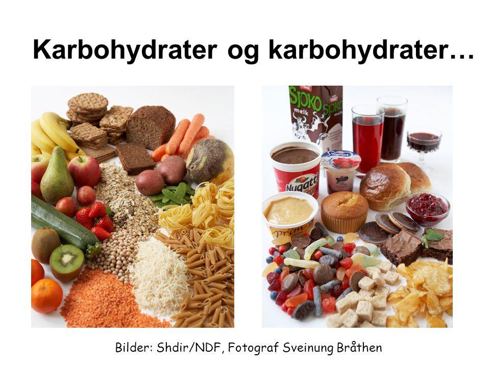 Karbohydrater og karbohydrater… Bilder: Shdir/NDF, Fotograf Sveinung Bråthen