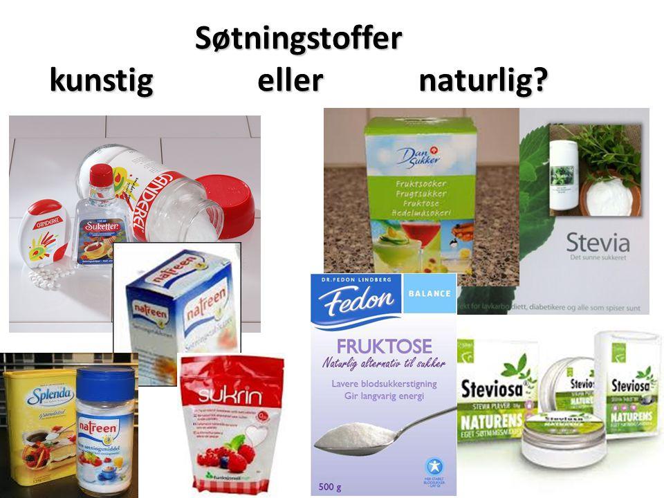 Søtningstoffer kunstig eller naturlig?
