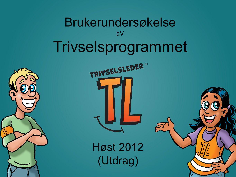 Trivselsleder AS © 2011 Brukerundersøkelse aV Trivselsprogrammet Høst 2012 (Utdrag)