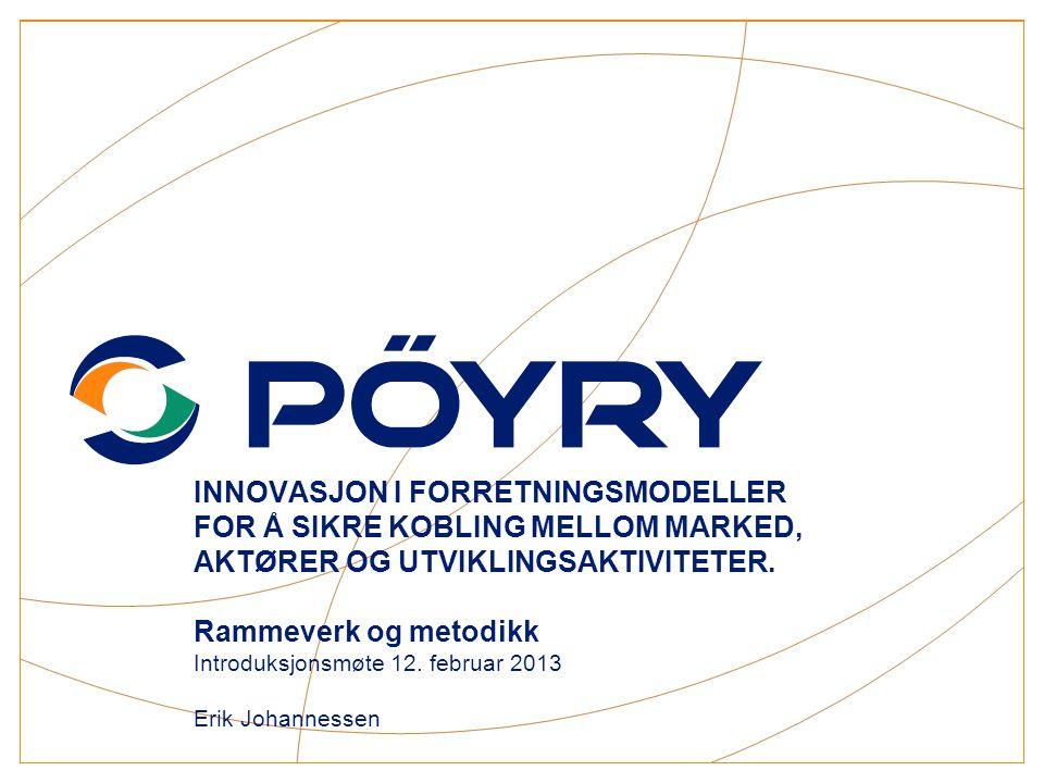 COPYRIGHT@PÖYRY Agenda  Historisk tilbakeblikk (noen sitater, litt statistikk)  Hva sier kundene og aktørene i 2012.