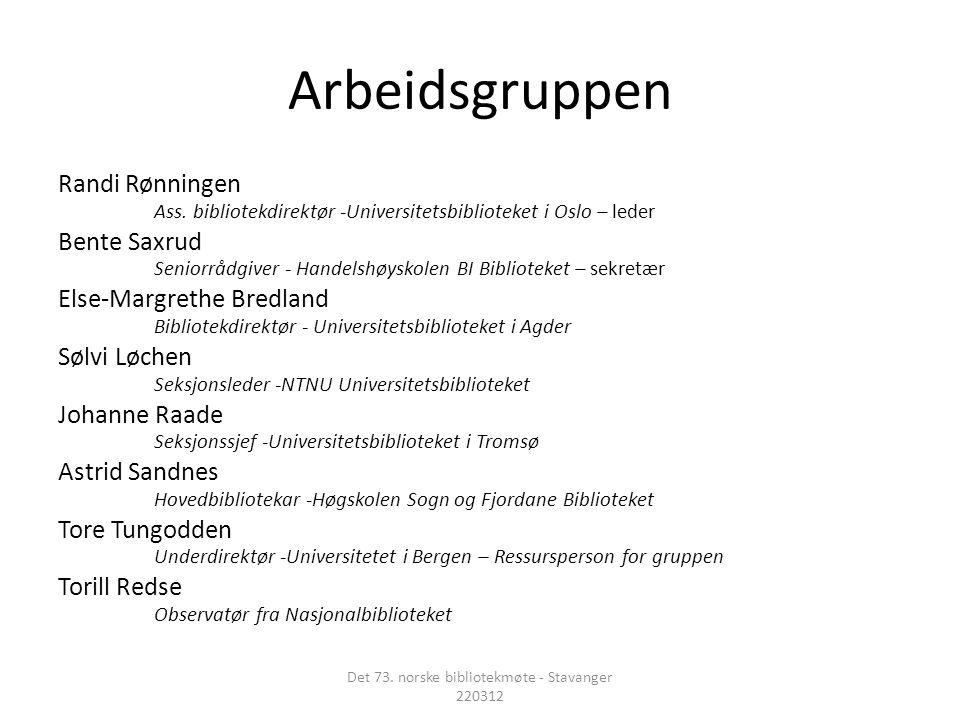 Arbeidsgruppen Randi Rønningen Ass.