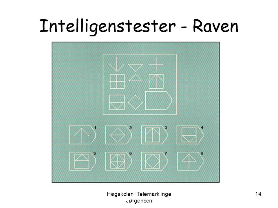 Høgskolen i Telemark Inge Jørgensen 14 Intelligenstester - Raven