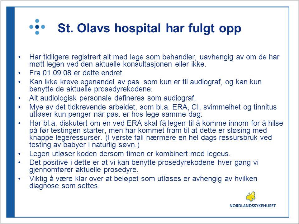 St. Olavs hospital har fulgt opp •Har tidligere registrert alt med lege som behandler, uavhengig av om de har møtt legen ved den aktuelle konsultasjon