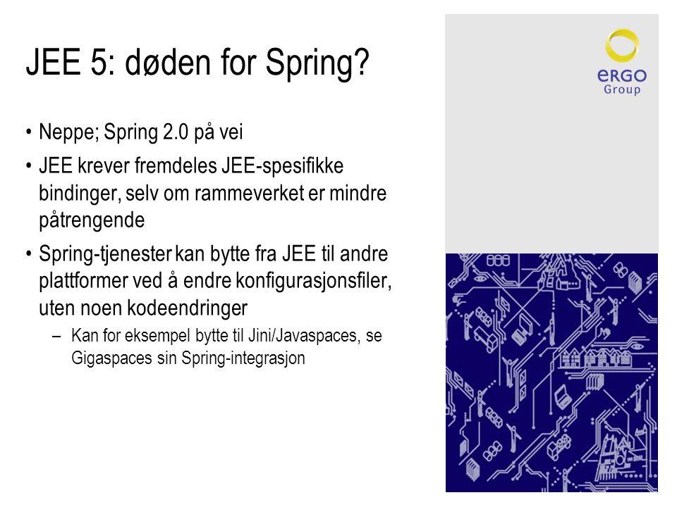 JEE 5: døden for Spring.