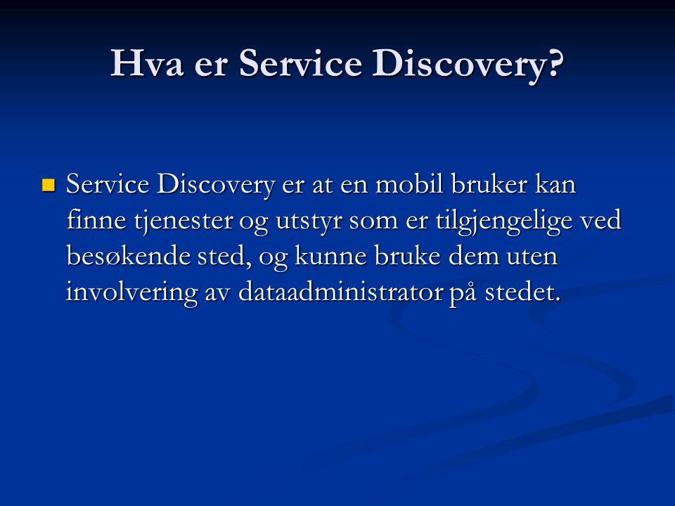 Hva er Service Discovery.