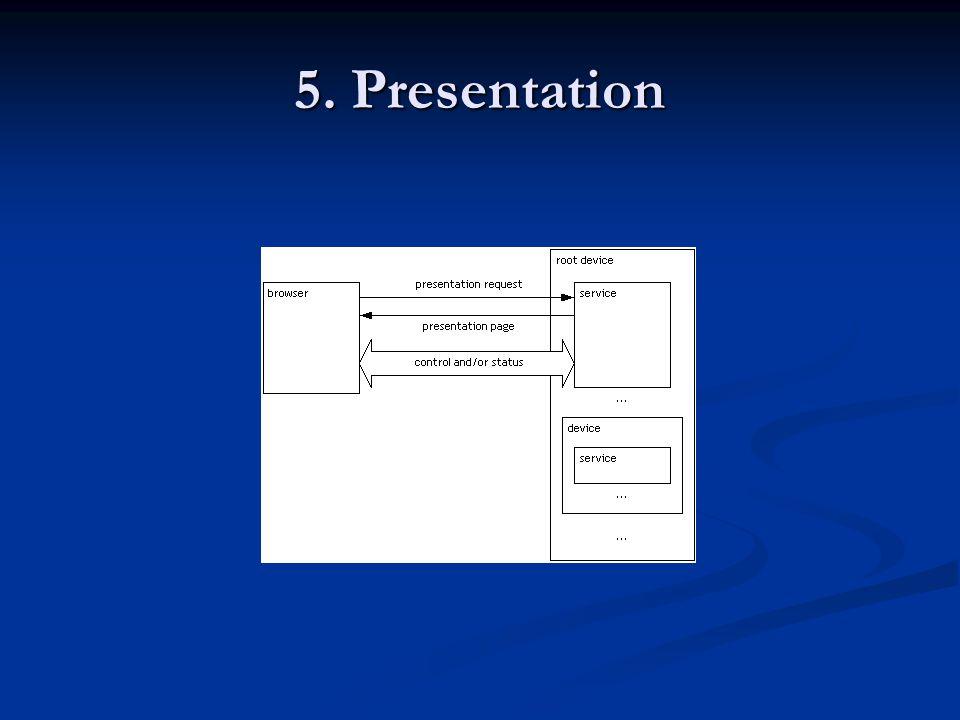 5. Presentation