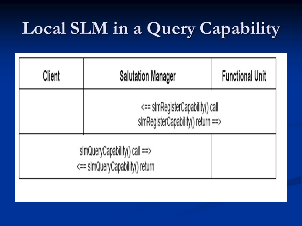 Local SLM in a Query Capability