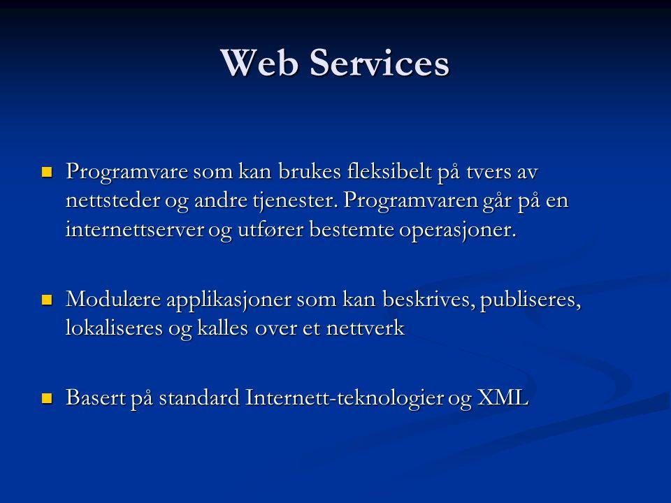  Programvare som kan brukes fleksibelt på tvers av nettsteder og andre tjenester.
