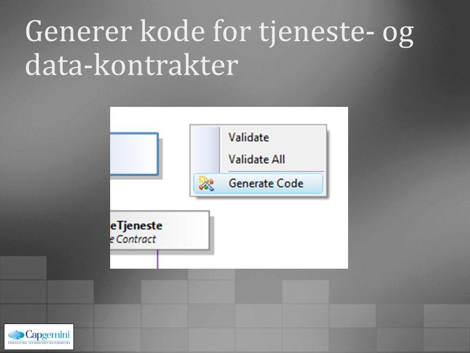 Konfigurer hostene og generer kode for tjeneste og klient