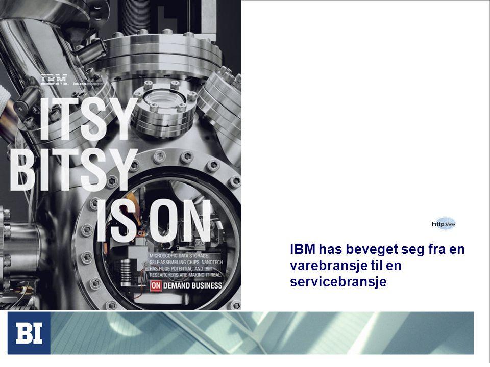 IBM has beveget seg fra en varebransje til en servicebransje