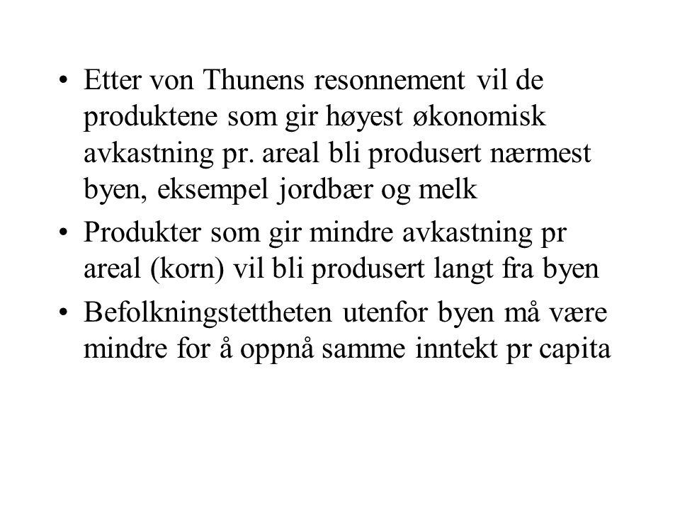 Modell og virkelighet •Hvordan stemmer situasjonen i dagens norske jordbruk med modellen.