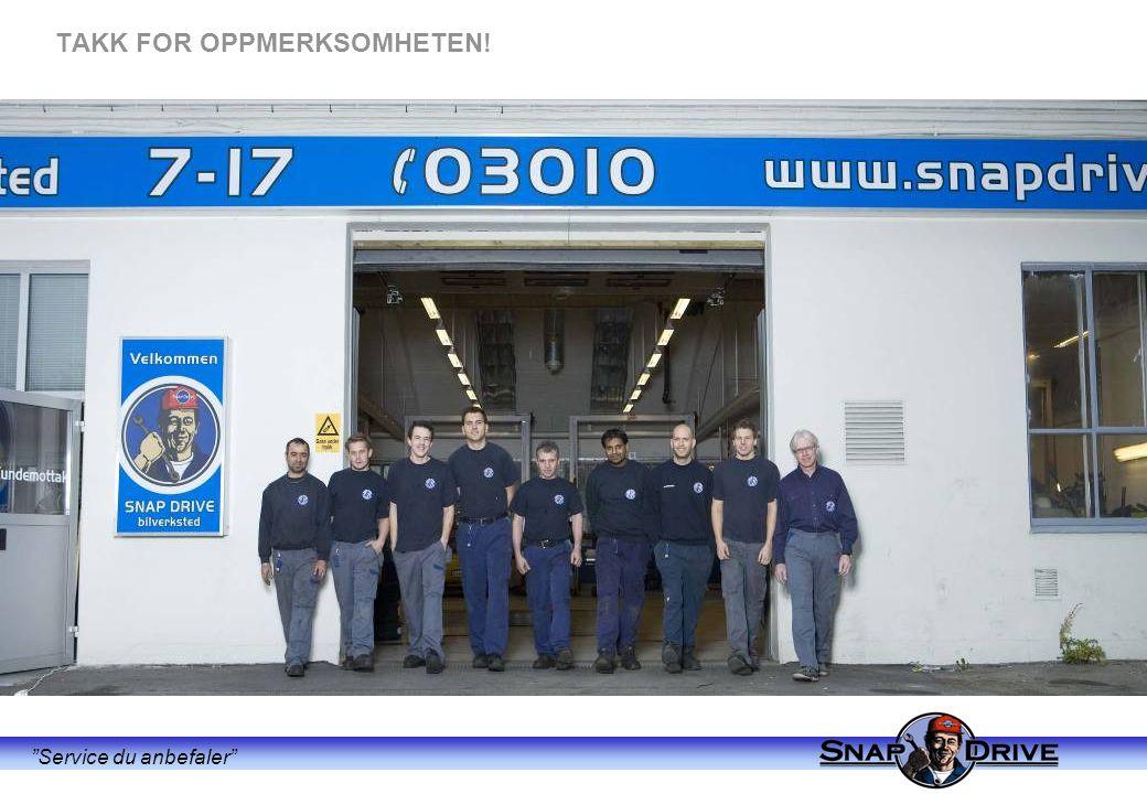 """""""Service du anbefaler"""" TAKK FOR OPPMERKSOMHETEN!"""