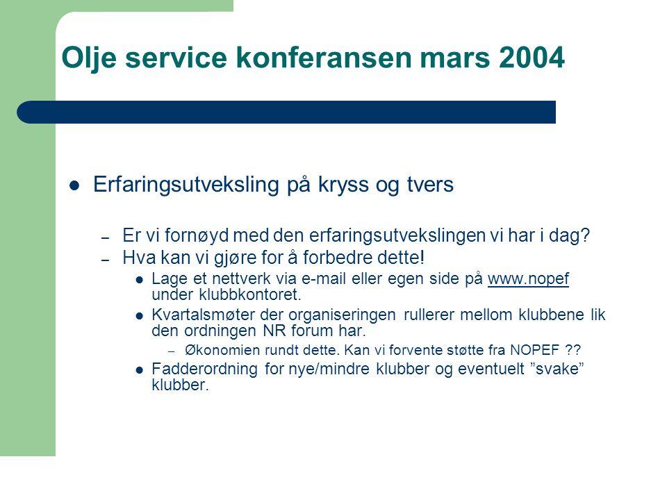 Olje service konferansen mars 2004  e-drift.