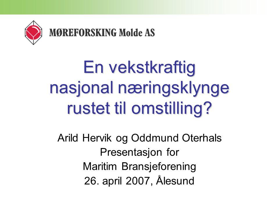 Rederienes omsetning i 2005 for offshore fartøy