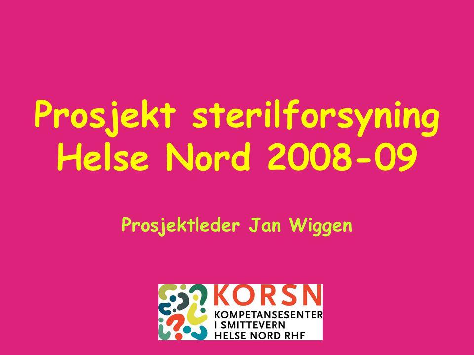 Prosjekt sterilforsyning 2008-0922 Prosjekt Sterilforsyning •Viktigste anbefalinger: •Kvalitetssikre autoklavene og steriliseringsprosessen ved årlig validering av autoklavene.