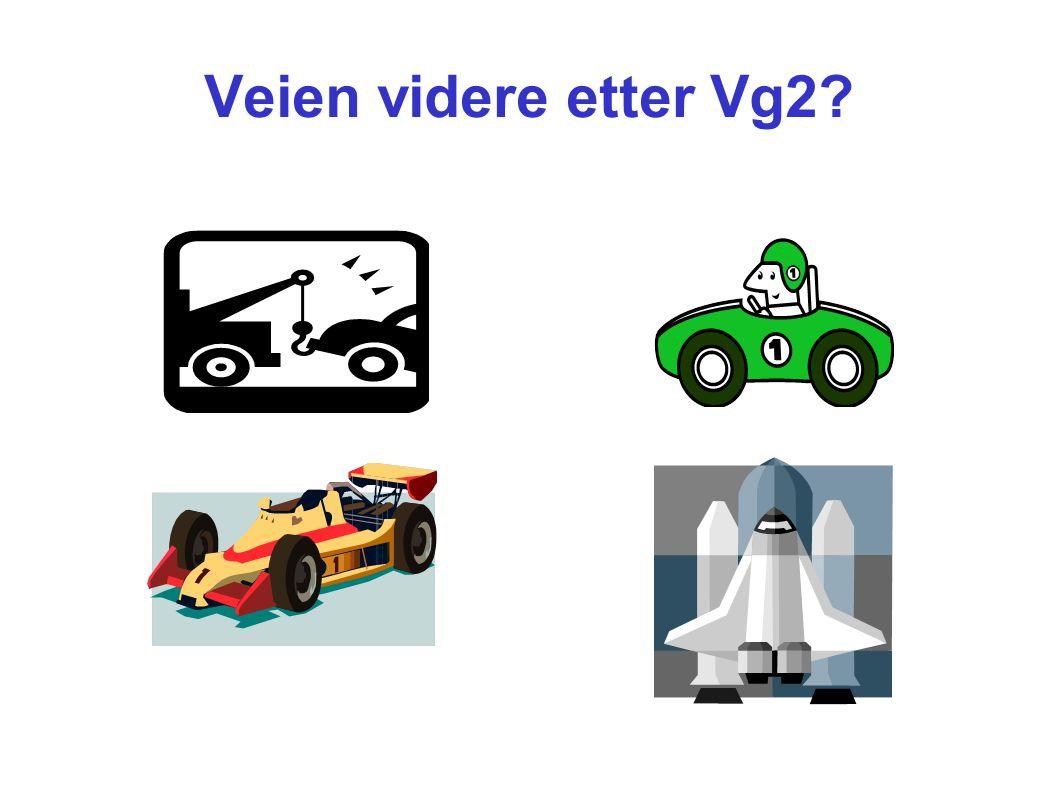 Veien videre etter Vg2?