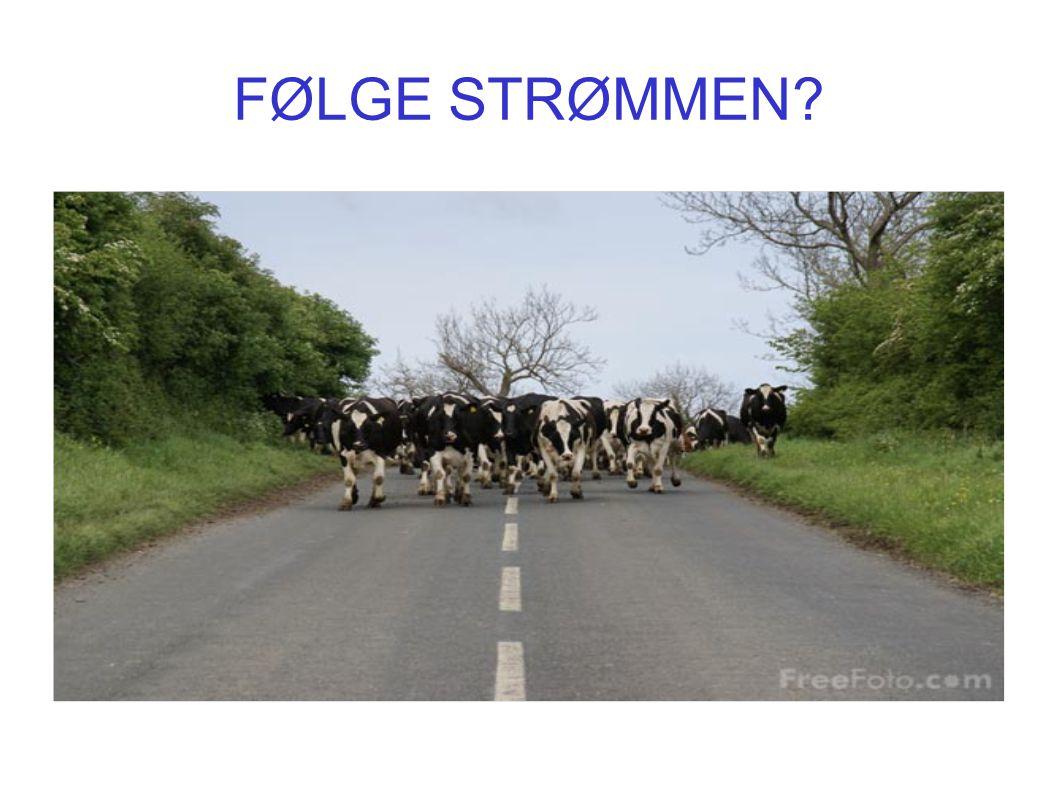 FØLGE STRØMMEN?