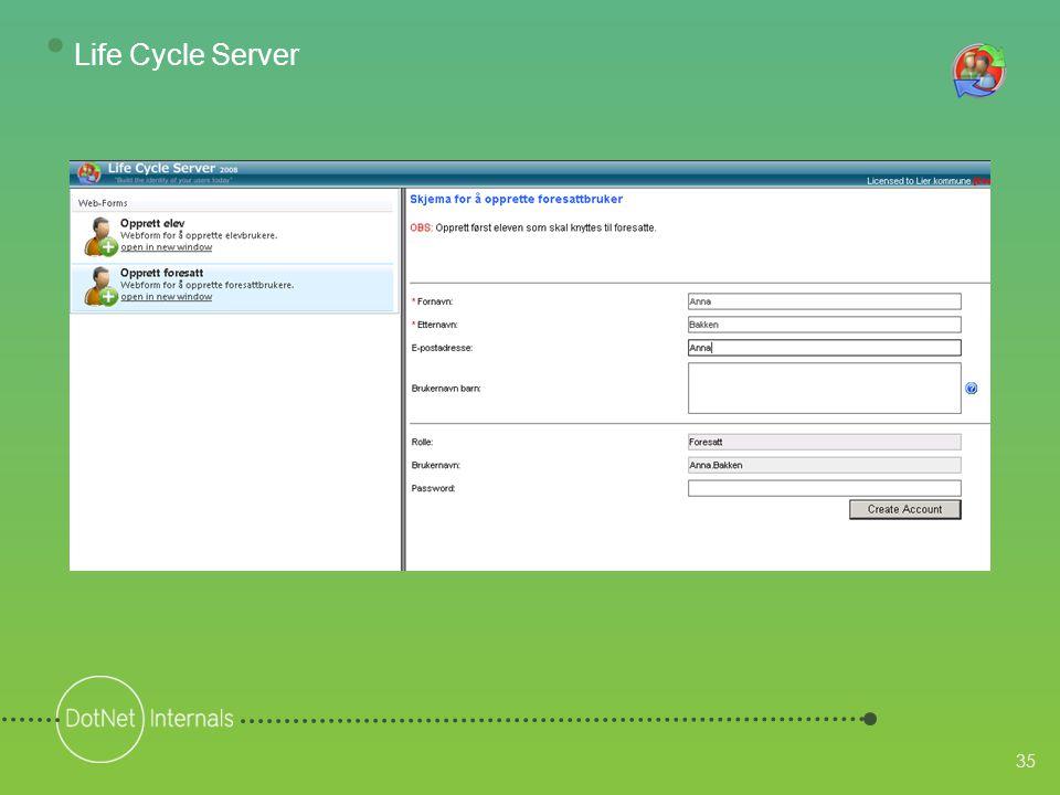 35 • Life Cycle Server