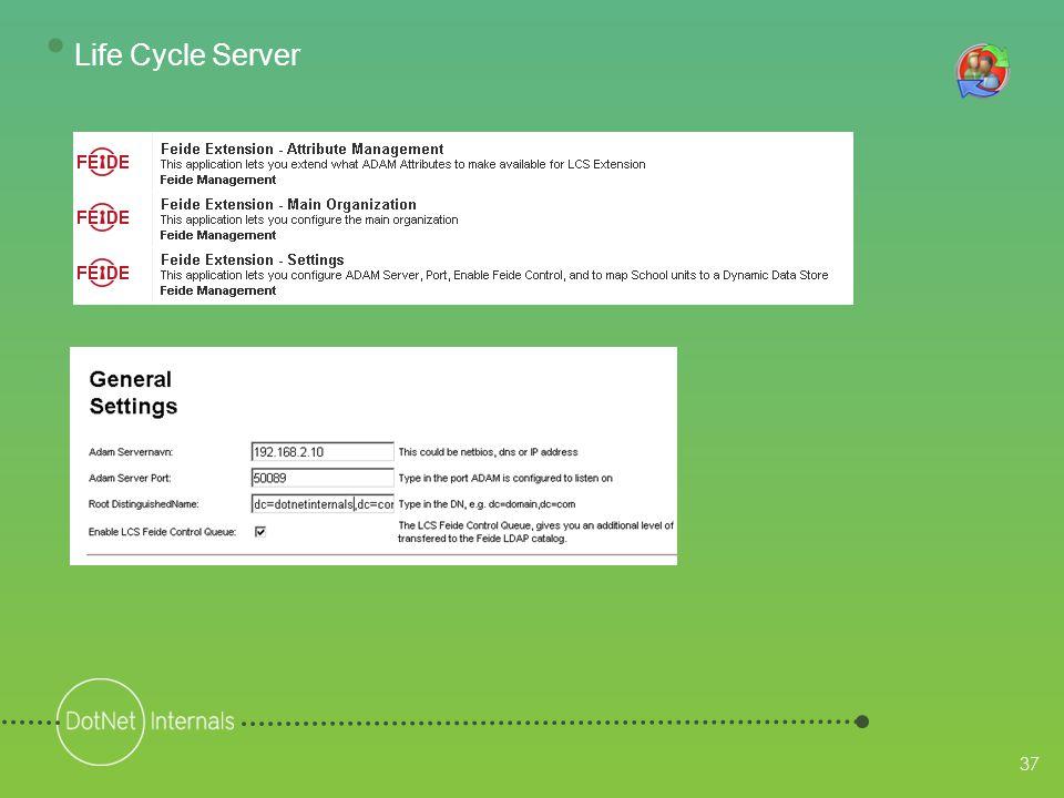 37 • Life Cycle Server
