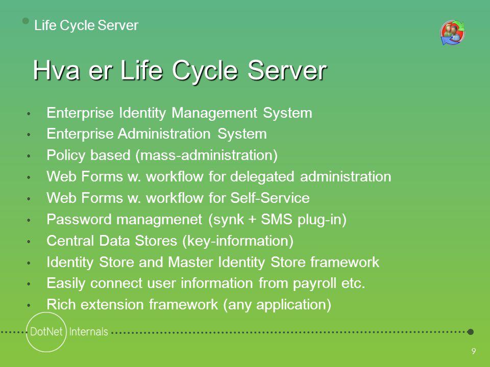 40 Legge inn verdier Hjelpetekst Håndtering av fler- verdier • Life Cycle Server