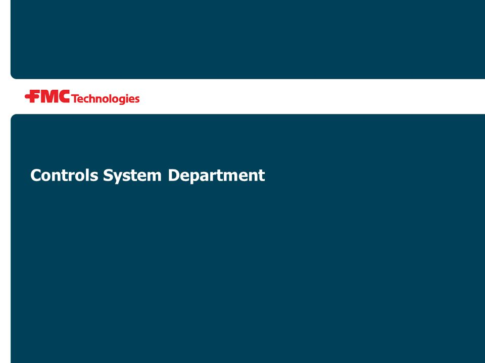 Controls System Department