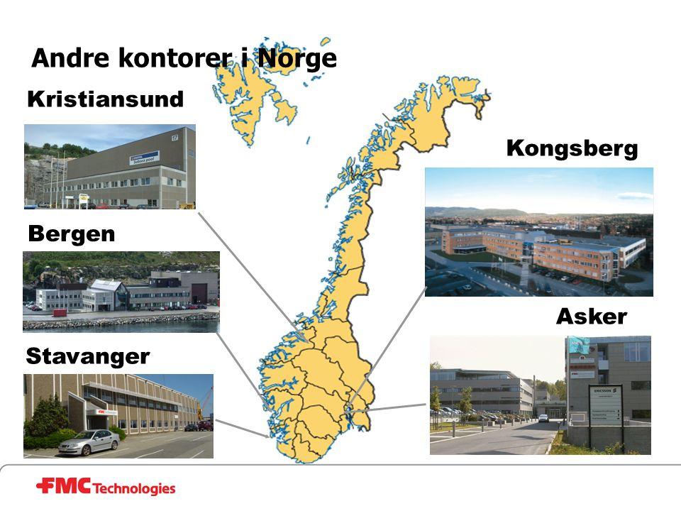 Asker Kristiansund Bergen Kongsberg Andre kontorer i Norge Stavanger