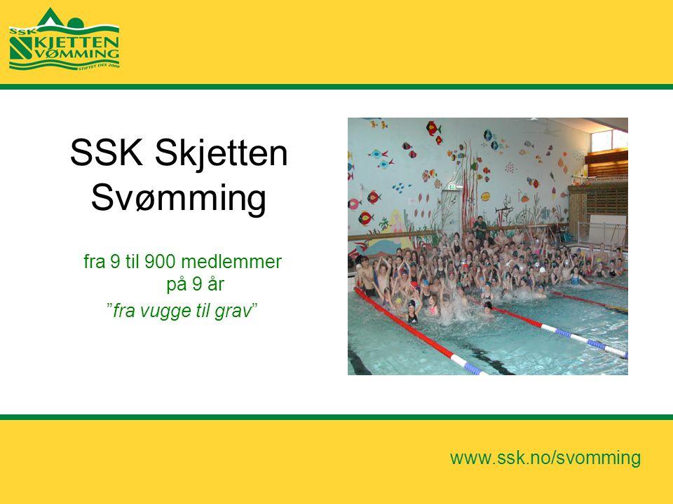 """www.ssk.no/svomming SSK Skjetten Svømming fra 9 til 900 medlemmer på 9 år """"fra vugge til grav"""""""