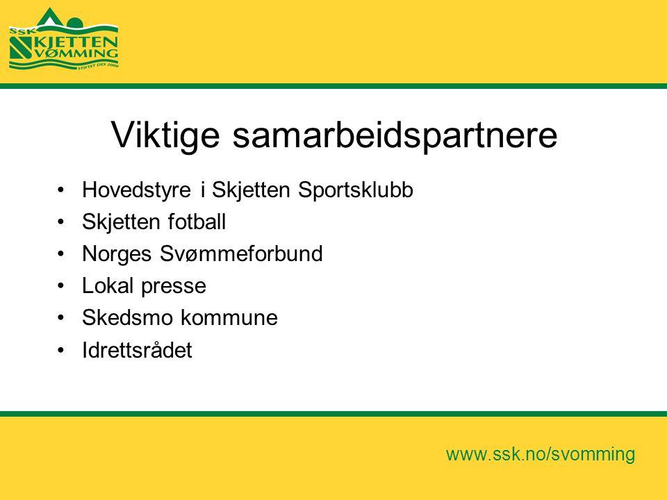 www.ssk.no/svomming Viktige samarbeidspartnere •Hovedstyre i Skjetten Sportsklubb •Skjetten fotball •Norges Svømmeforbund •Lokal presse •Skedsmo kommu