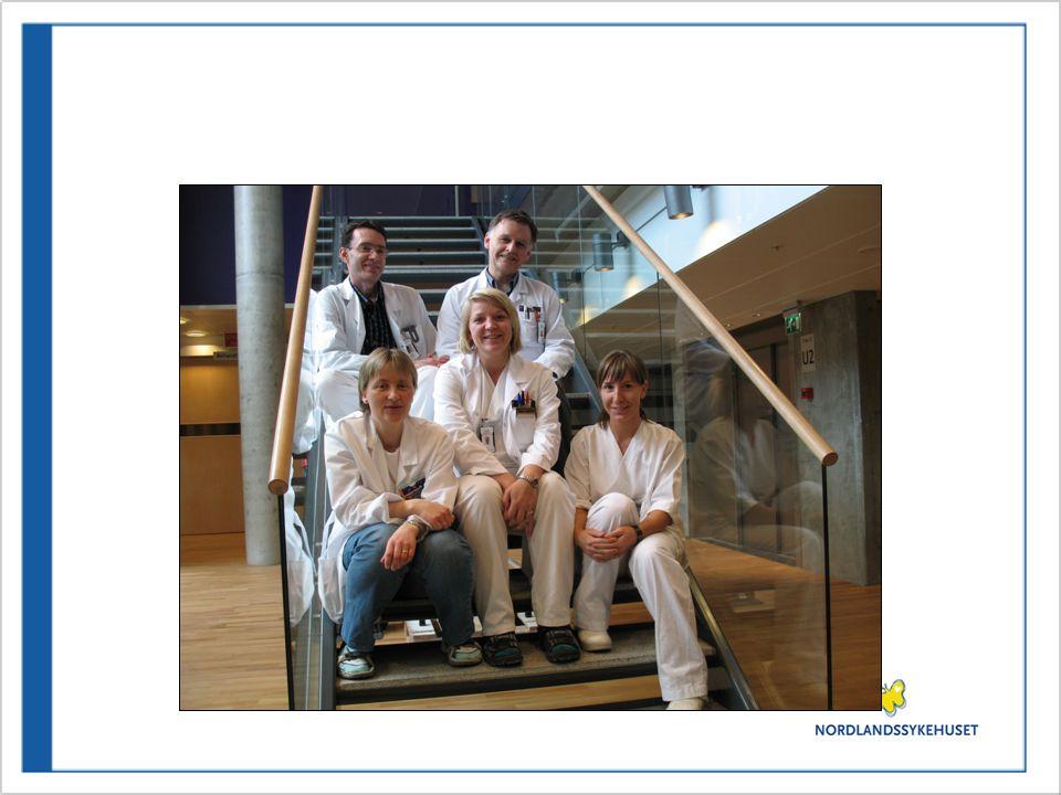 Palliativt team (høsten-07) •For tiden under Akutt med.avd.