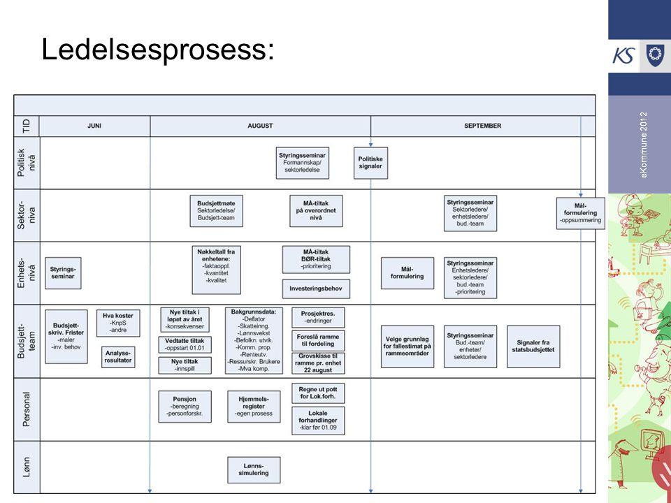 eKommune 2012 Ledelsesprosess:
