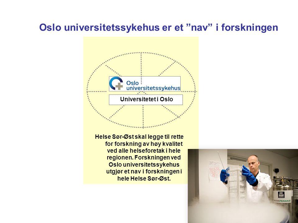 """Oslo universitetssykehus er et """"nav"""" i forskningen Helse Sør-Øst skal legge til rette for forskning av høy kvalitet ved alle helseforetak i hele regio"""