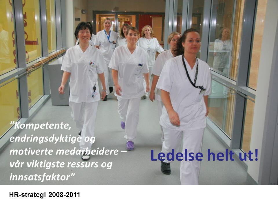 """""""Kompetente, endringsdyktige og motiverte medarbeidere – vår viktigste ressurs og innsatsfaktor"""" HR-strategi 2008-2011 Ledelse helt ut!"""