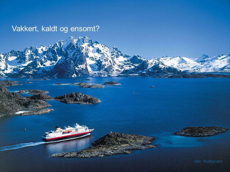 Vakkert, kaldt og ensomt? foto: Hurtigruten
