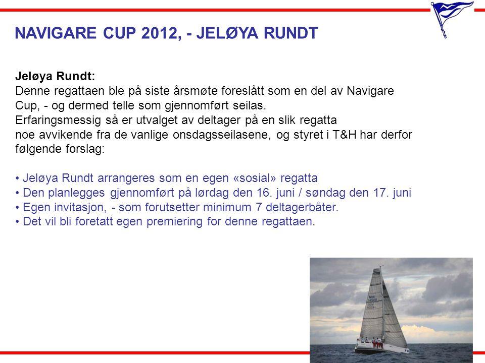NAVIGARE CUP 2012, - JELØYA RUNDT Jeløya Rundt: Denne regattaen ble på siste årsmøte foreslått som en del av Navigare Cup, - og dermed telle som gjenn
