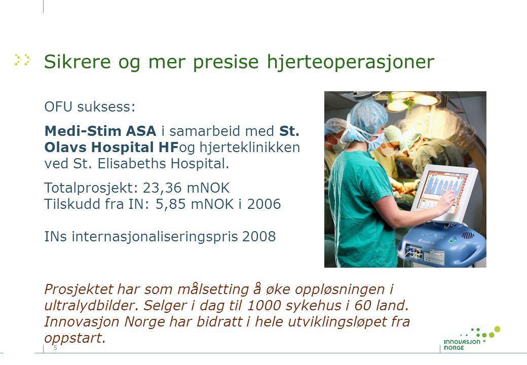 5 Sikrere og mer presise hjerteoperasjoner OFU suksess: Medi-Stim ASA i samarbeid med St. Olavs Hospital HFog hjerteklinikken ved St. Elisabeths Hospi